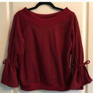 Francesca's Crimson Off the Shoulder Sweater